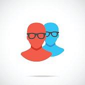 Vector profiles icon. Modern flat design vector illustration