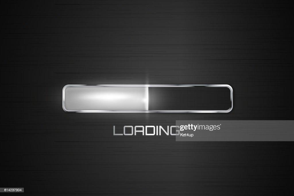 Vector progress loading bar.