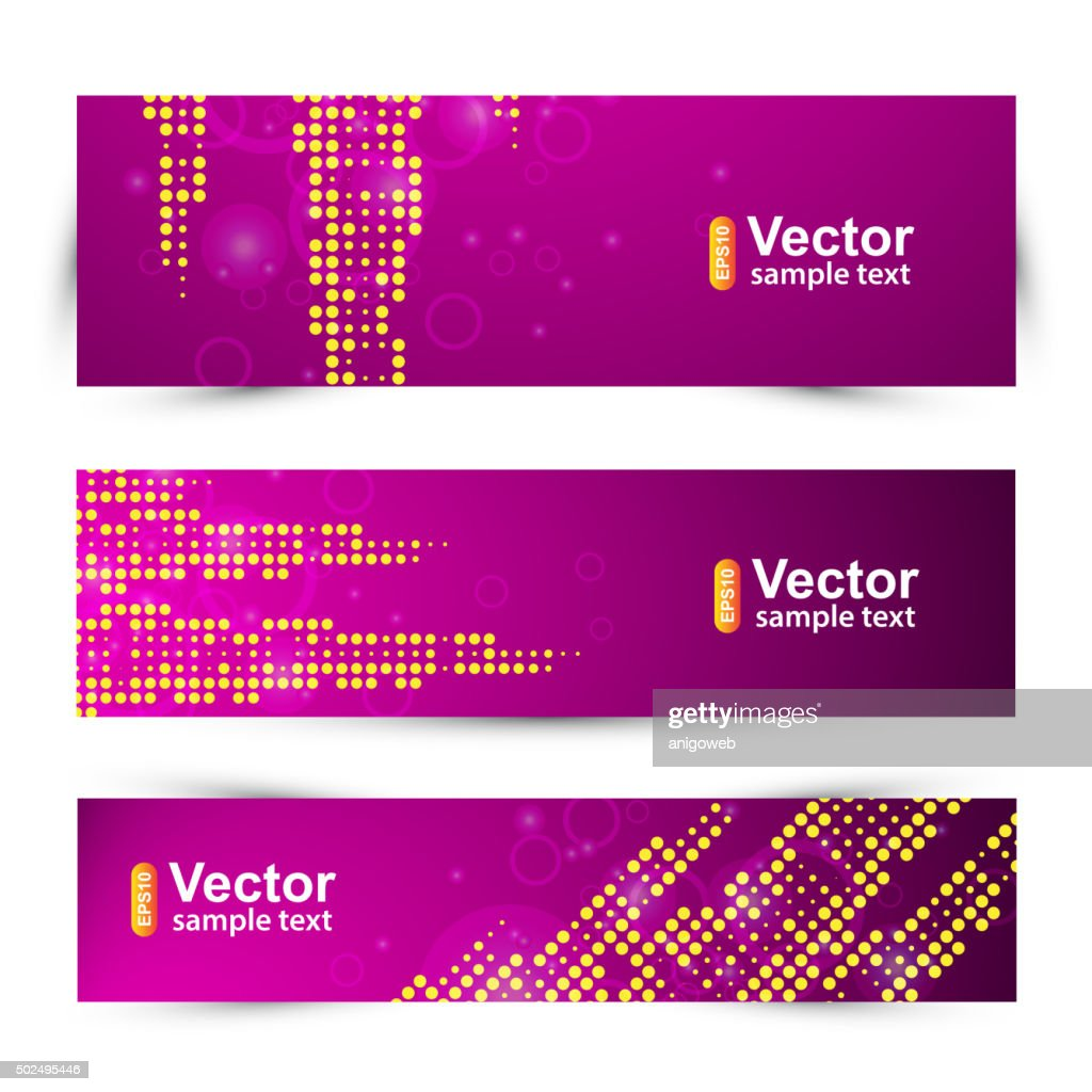 Vector promotion template card