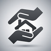 Vector protect house icon