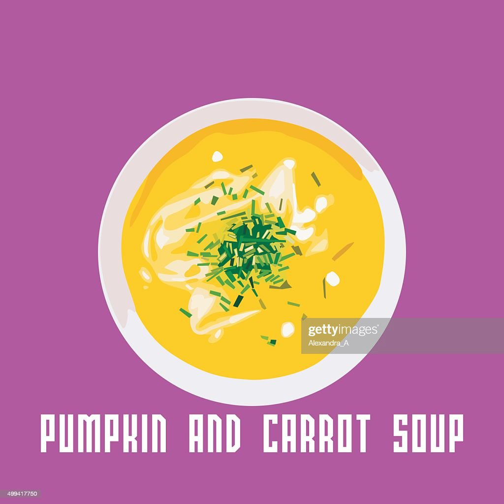 vector pumpkin and carrot soup