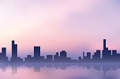 vector purple city