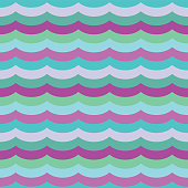 Vector Purple Cool Waves Seamless Pattern Background