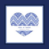 Vector purple drops chevron heart symbol frame pattern invitation greeting