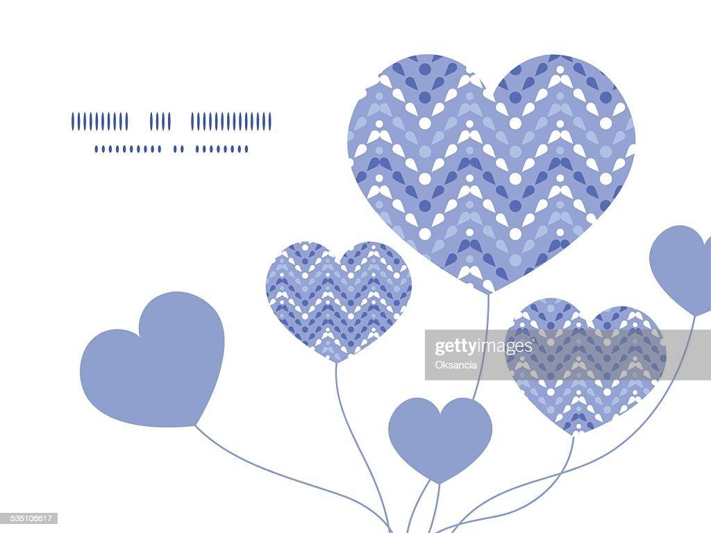 Vector purple drops chevron heart symbol frame pattern invitation greeting