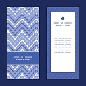 Vector purple drops chevron vertical frame pattern invitation greeting cards