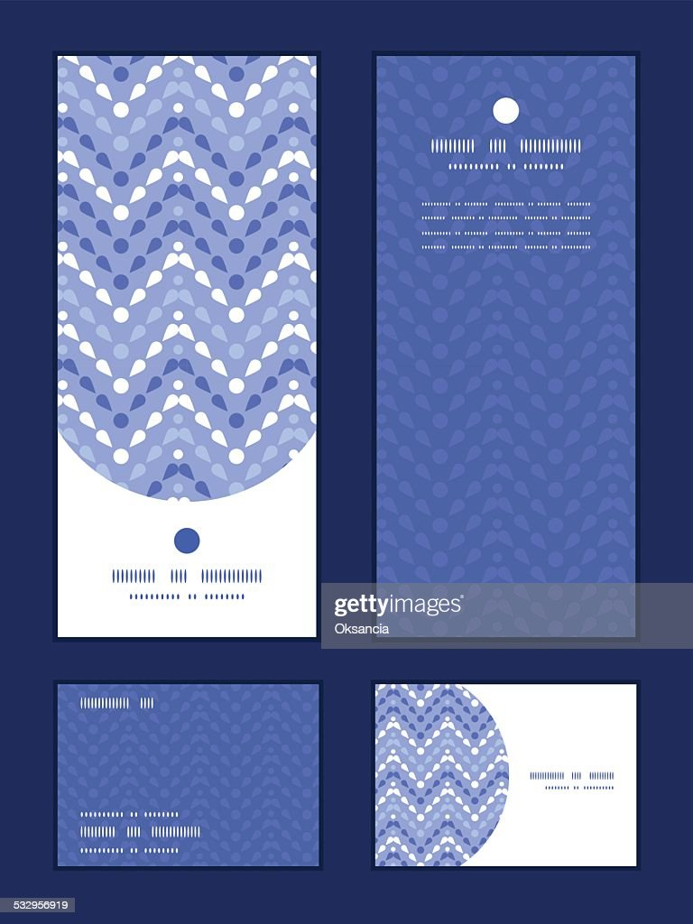 Vector purple drops chevron vertical frame pattern invitation greeting, RSVP