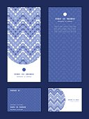 Vector purple drops chevron vertical frame pattern invitation greeting, RSVP