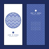 Vector purple drops chevron vertical round frame pattern invitation greeting