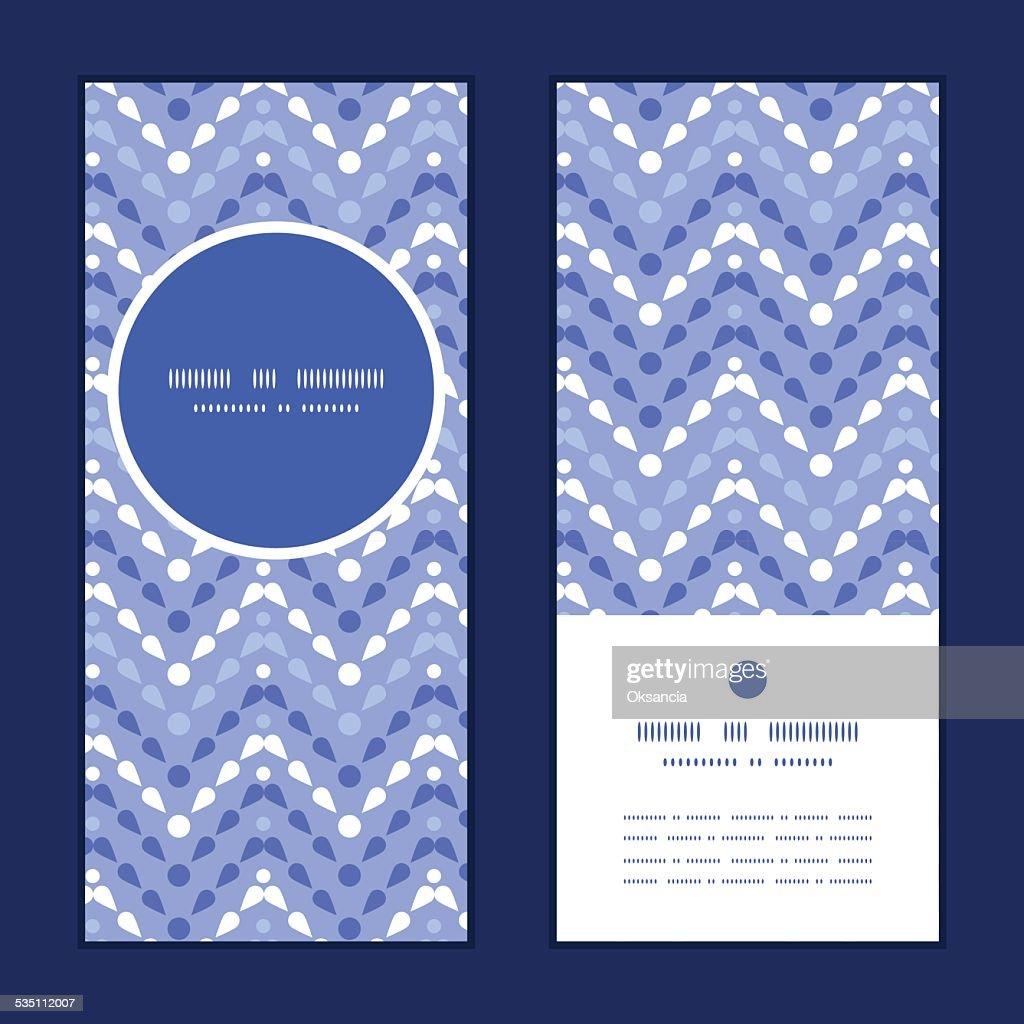 Vector purple drops chevron vertical round frame pattern invitation greeting