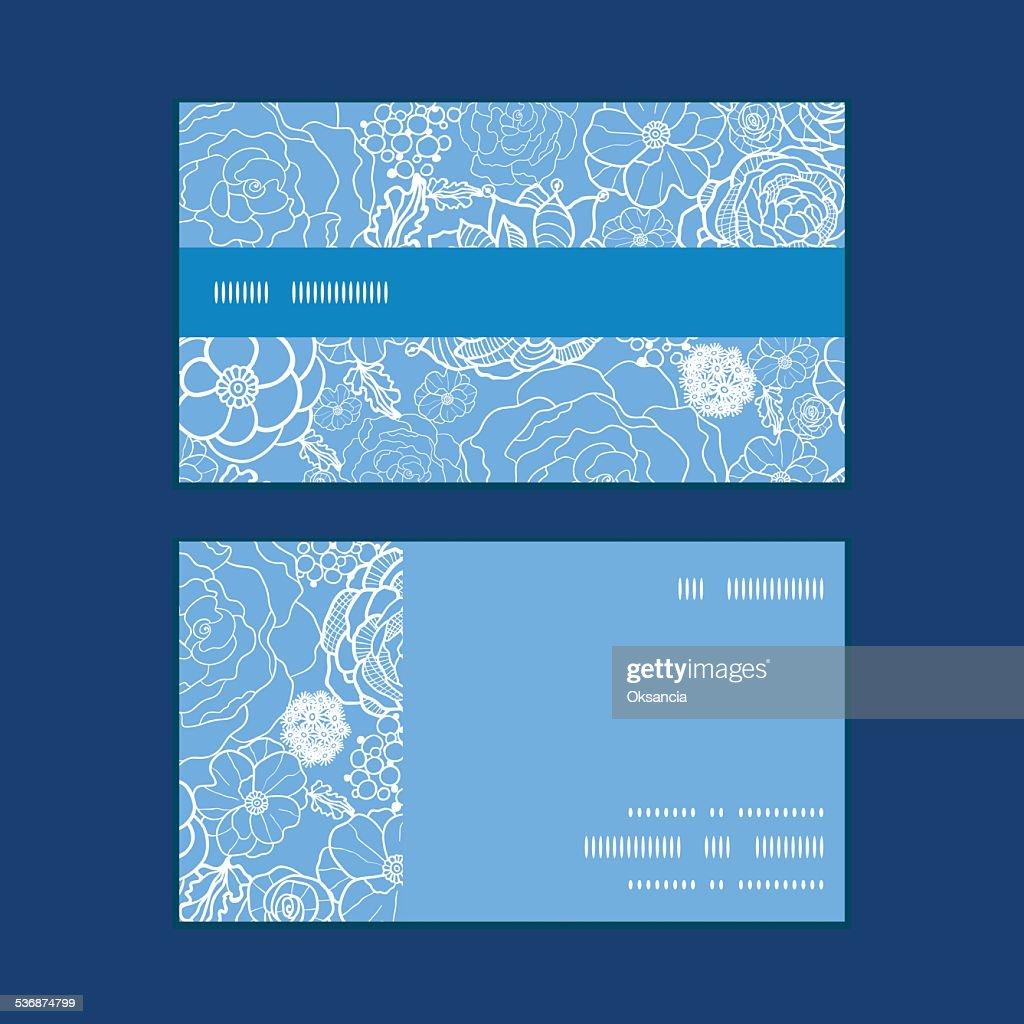 Vector Violet En Dentelle Motif Fleurs Rayures Horizontales De Cartes Visite Clipart Vectoriel