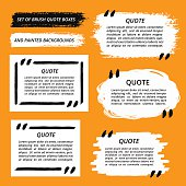 Vector Quote Boxes and Brush Strokes