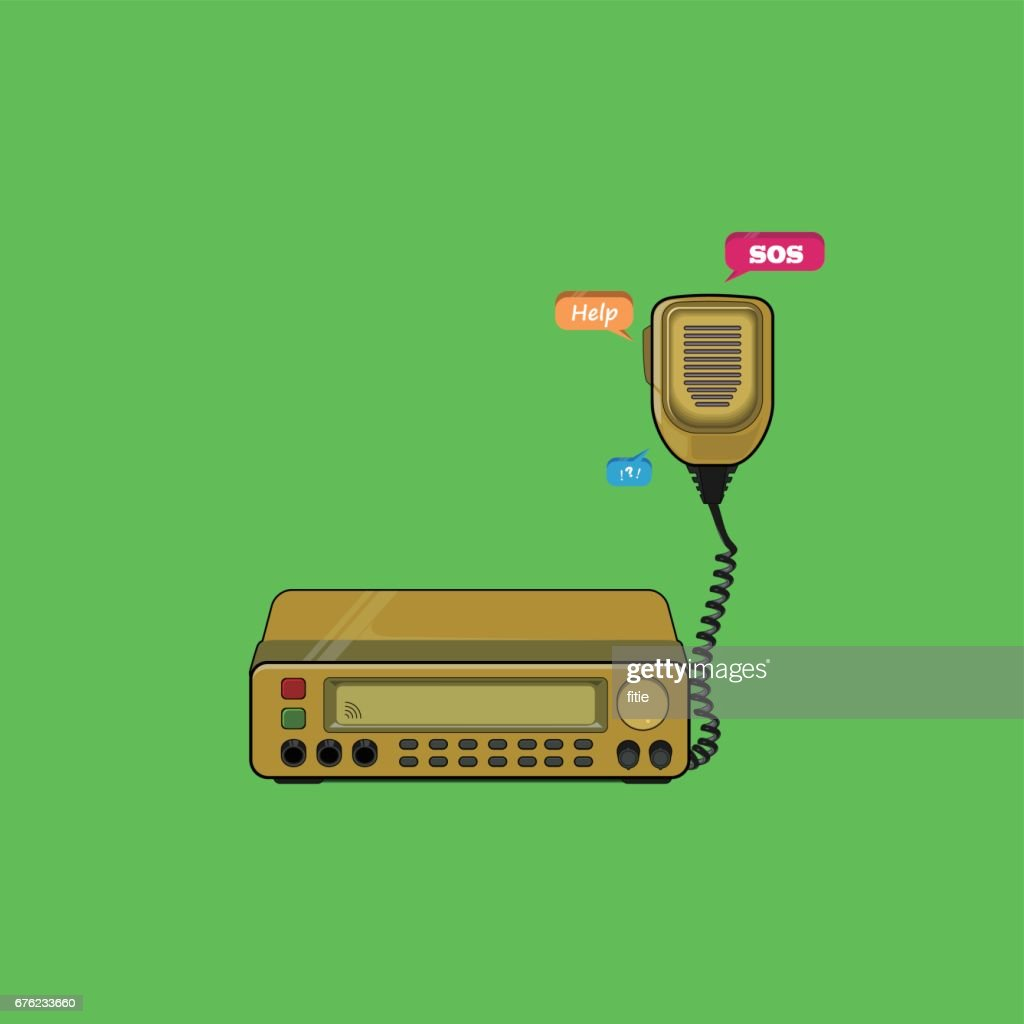 Vector radio communication : stock illustration