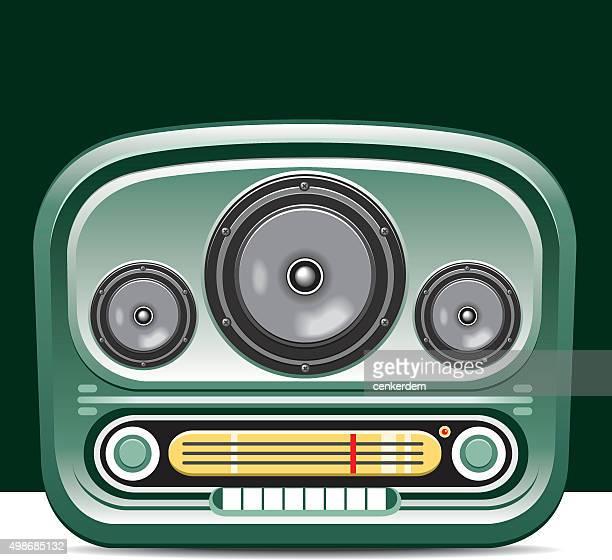 vector radio - soundtrack stock illustrations, clip art, cartoons, & icons