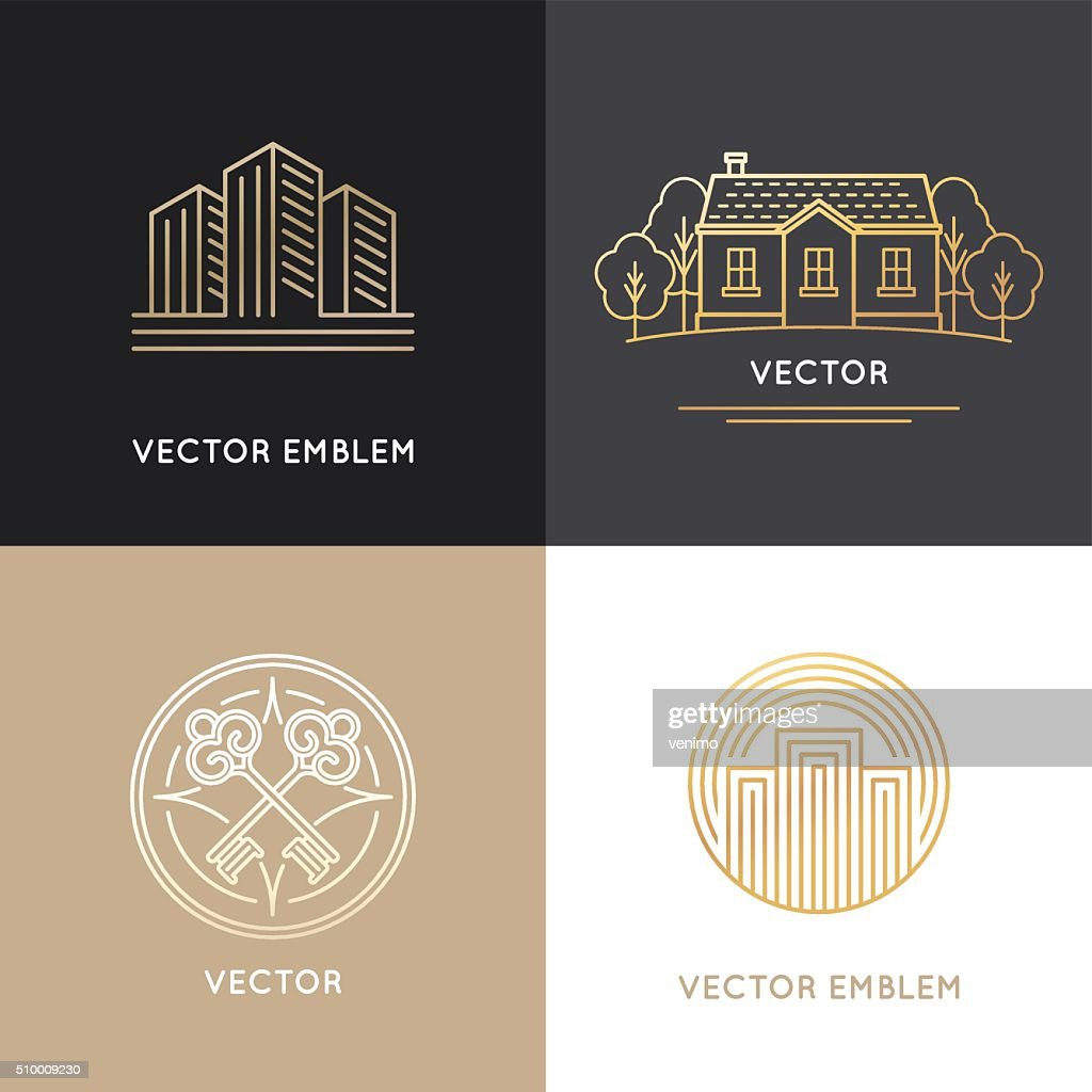 Vector real estate logo design templates