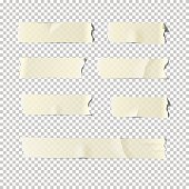 Vector  realistic adhesive tape set  isolated on transparent background.