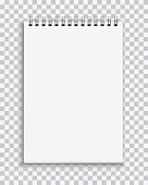 Vector realistic blank notebook isolated on transparent background