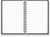 Vector Realistic Blank Open Notebook