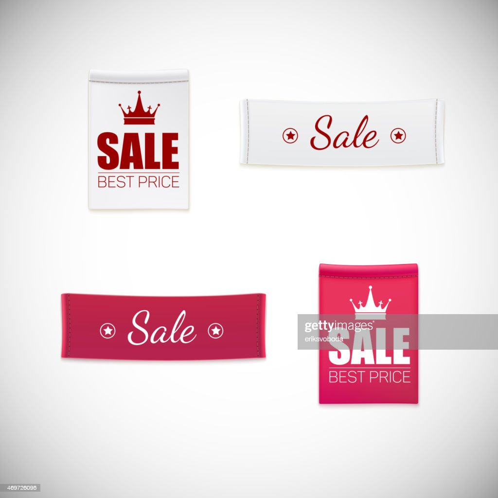 Vector realistic clothing label.