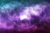 Vector realistic cosmic galaxy background. Concept of space, nebula and cosmos.