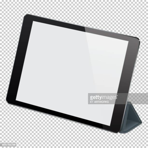 Vector realistic digital PC tablet
