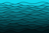 Vector realistic isolated blue paper cut layer background for decoration and covering. Concept of geometric abstract design.