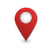 Vector realistic isolated map pin on the white background. Concept of navigation.