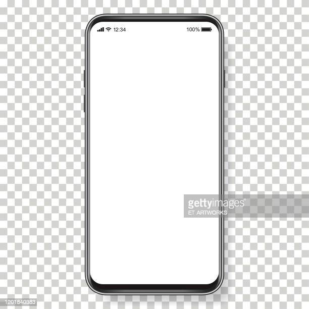 vector realistic mobile phone - empty stock illustrations