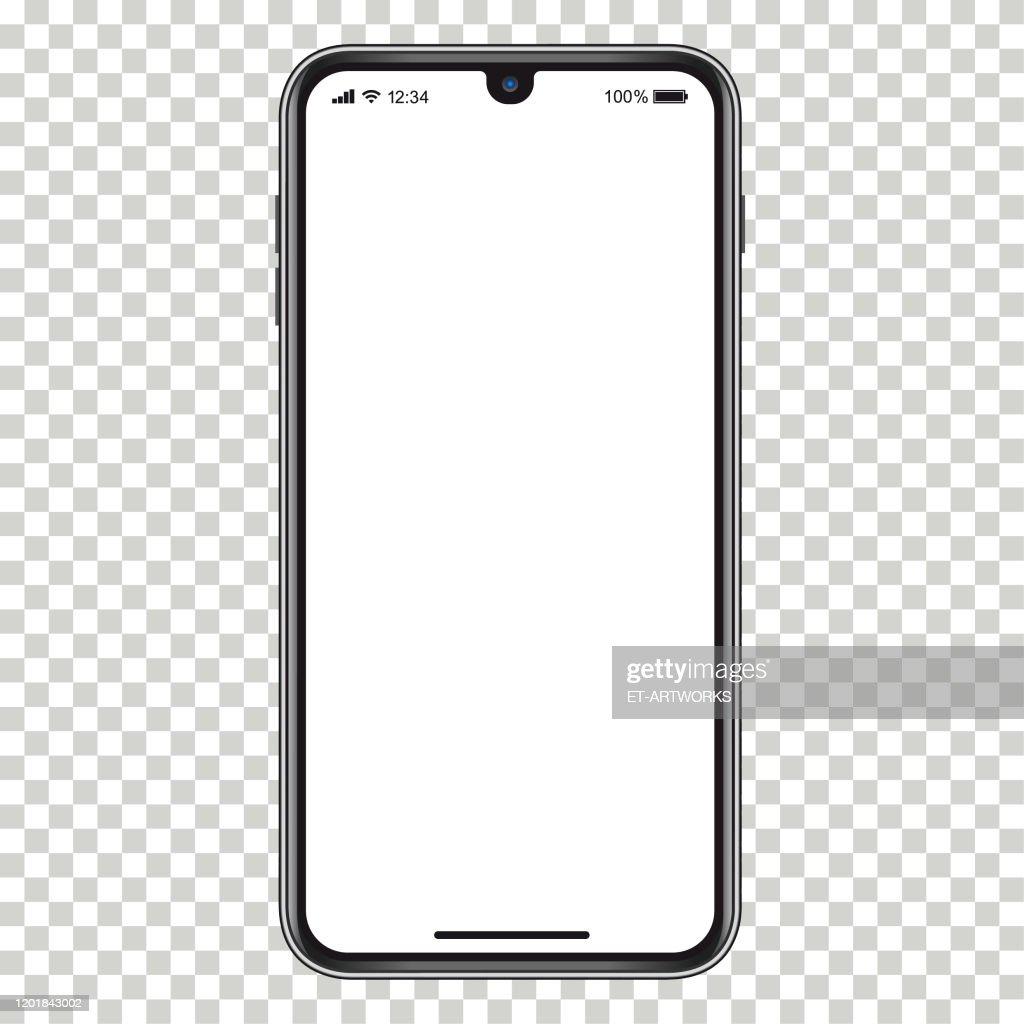 Vector realistische mobiele telefoon : Stockillustraties