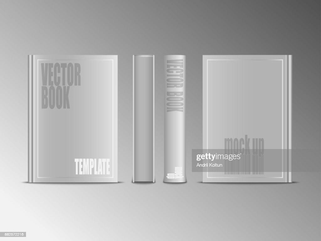 Livre Blanc Realiste De Vecteur Maquette Isoles Sur Fond