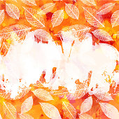 Vector red and yellow autumn texture with copy space