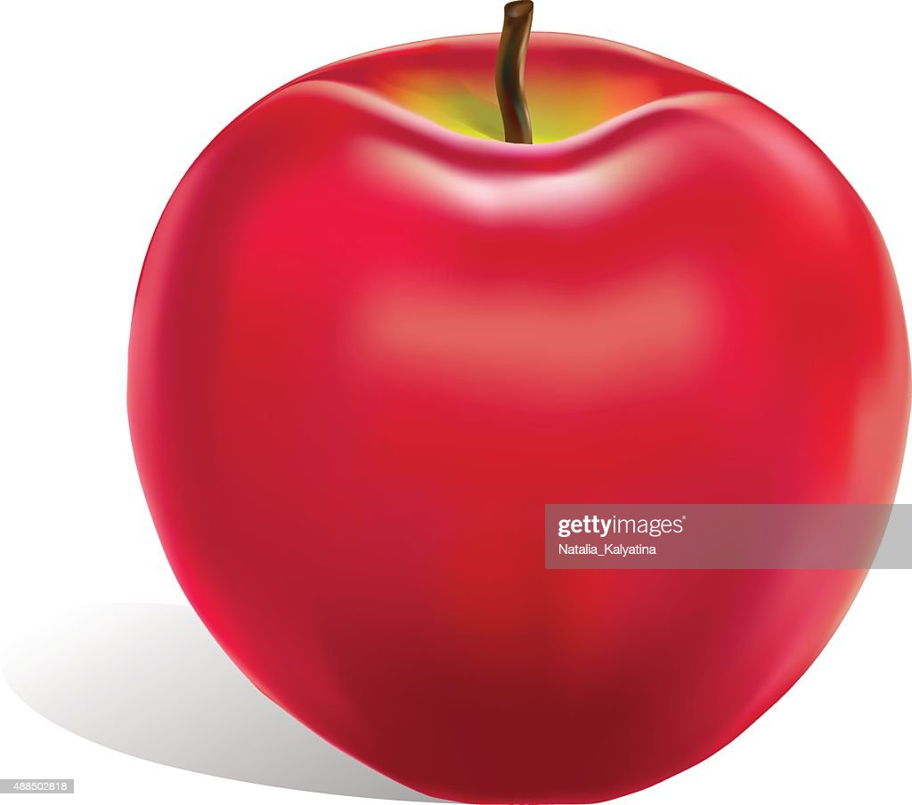 Vector red apple isolated.Fruit.