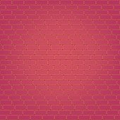 Vector red brick wall seamless background.