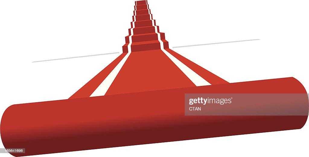 vector red carpet : stock illustration