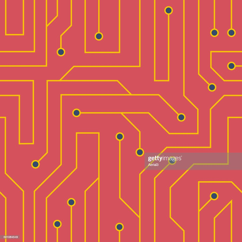 Vector Red Circuit Board Background Art Getty Images