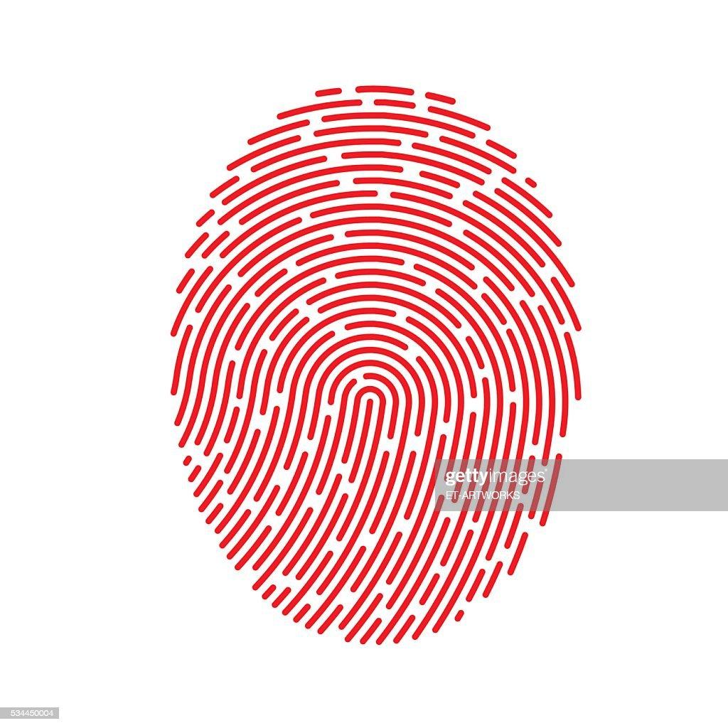 Vector Red Fingerprint : stock illustration