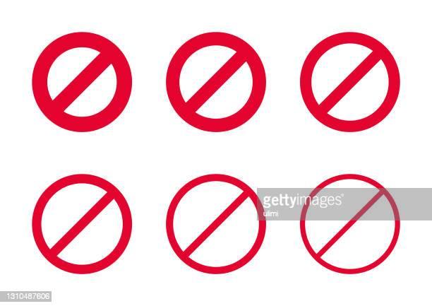 ベクター赤禁止サイン - 待避所標識点のイラスト素材/クリップアート素材/マンガ素材/アイコン素材