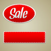 Vector Red sale stitched label