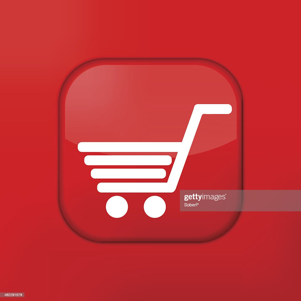 Vector Red Shopping Icon Eps10 Easy To Edit stock vector