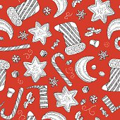 vector red Xmas pattern