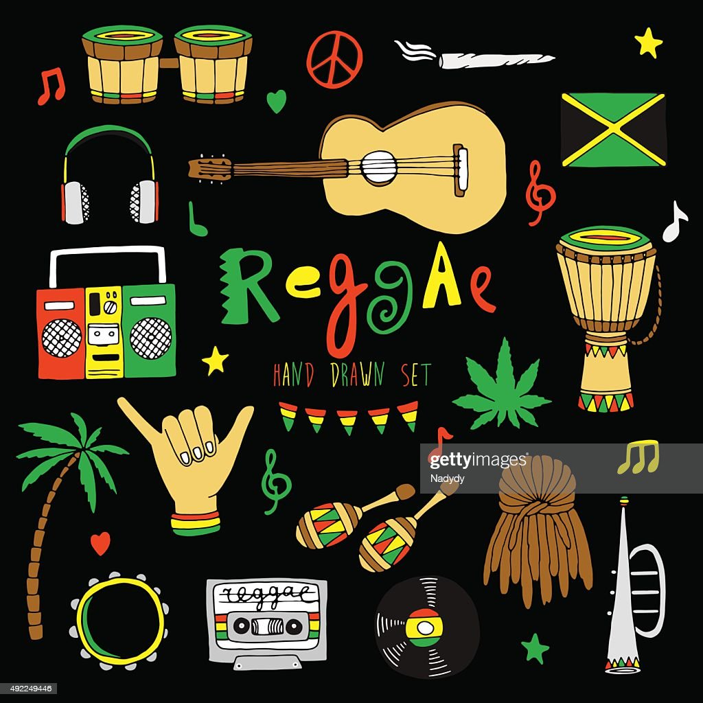 Vector reggae set