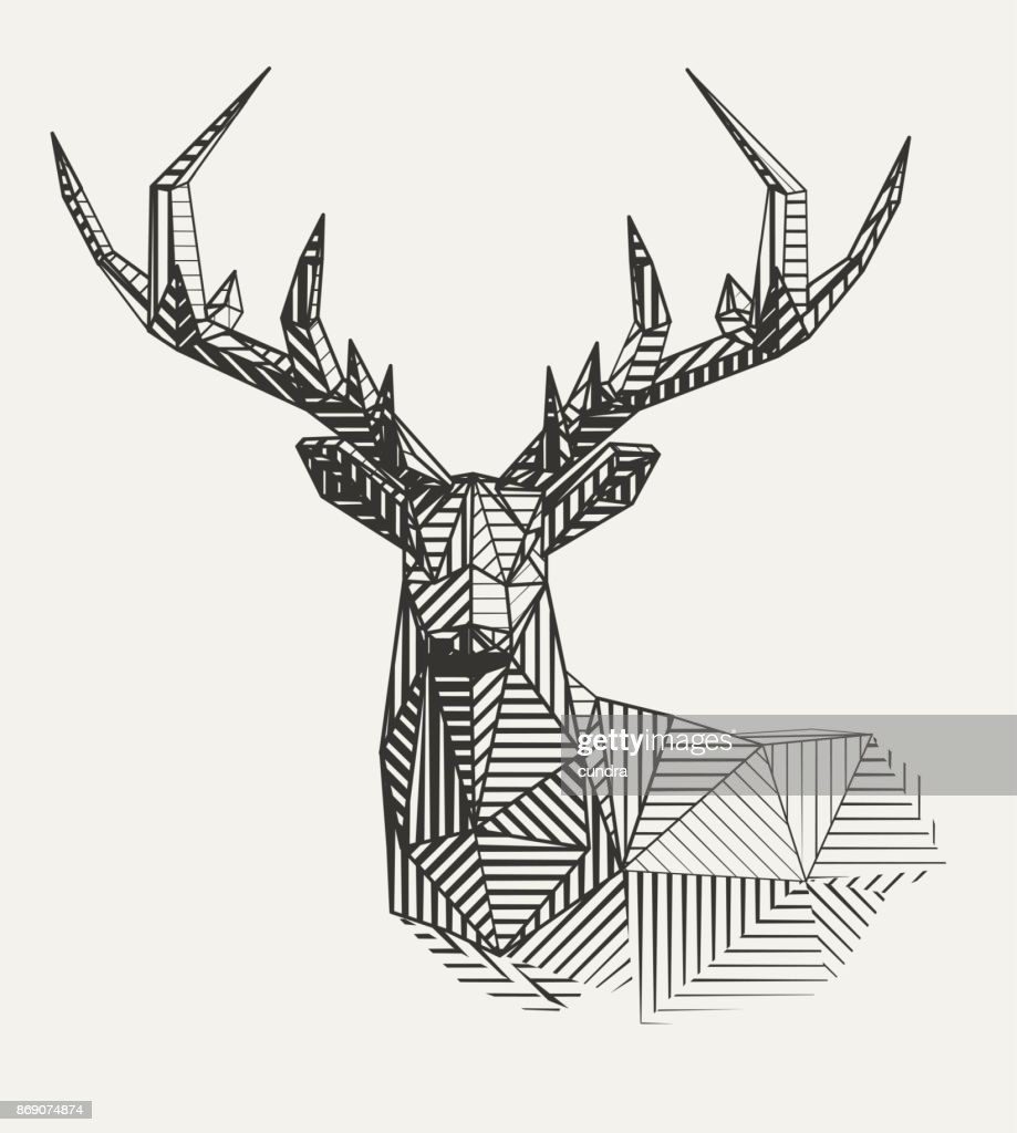 Vector reindeer illustration