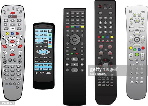 vector remotes - remote control stock illustrations