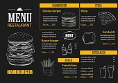 vector restaurant cafe menu with hand drawn graphic template fla