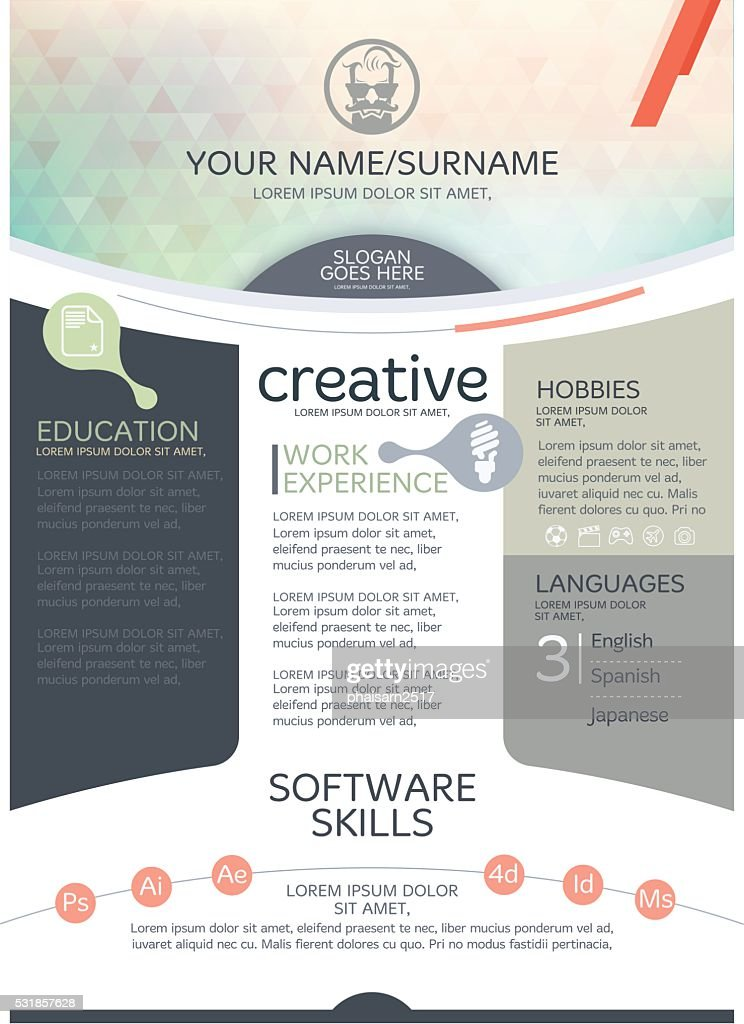 Vector resume template.