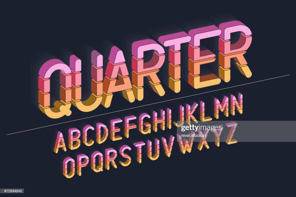 Vector retro bold font design, typeface, typography