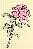 Vector Rose Halftone