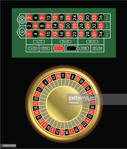 Vector Roulette Table and Wheel