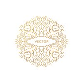 Vector round logo and monogram design template