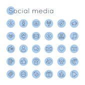 Vector Round Social Media Icons